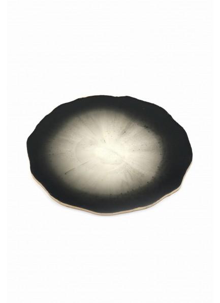 Çaydanlık Altı Tabağı Özel Tasarım Beyaz Siyah
